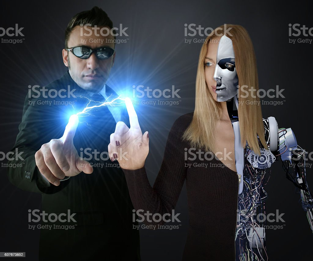Robotic Energy Transfer stock photo
