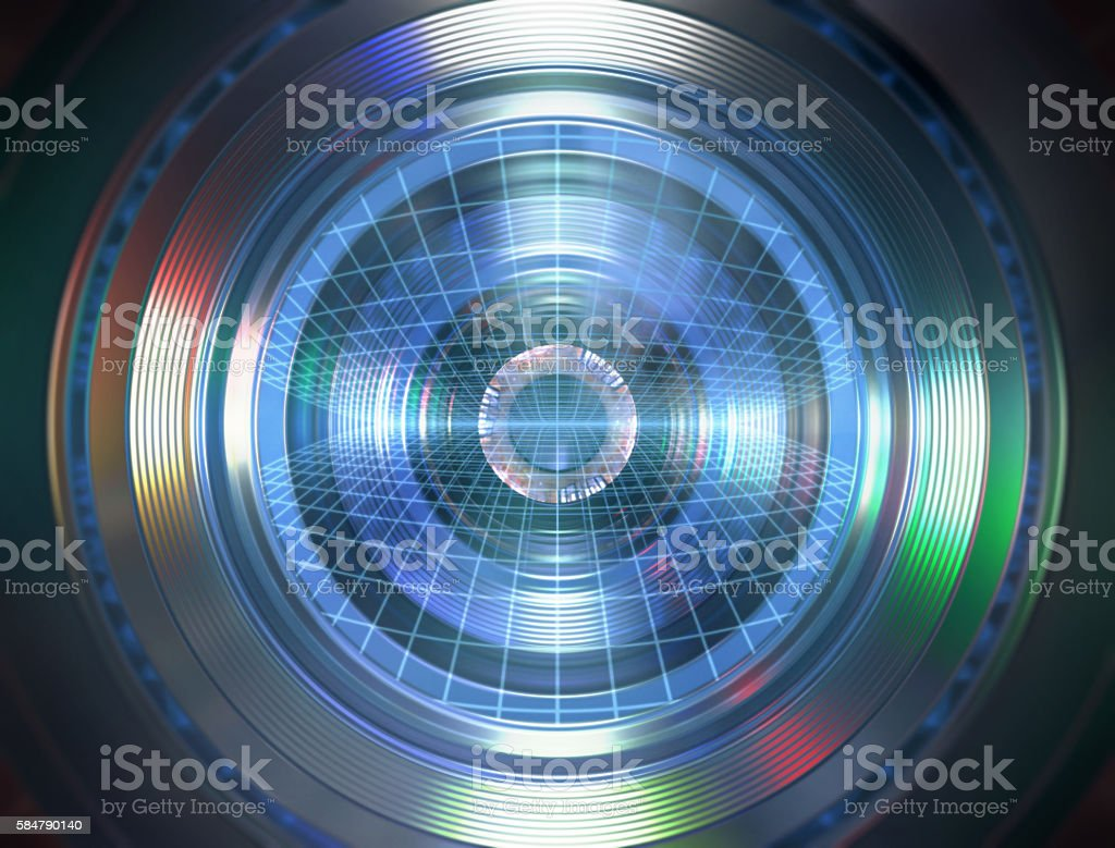 Robotic Eye stock photo