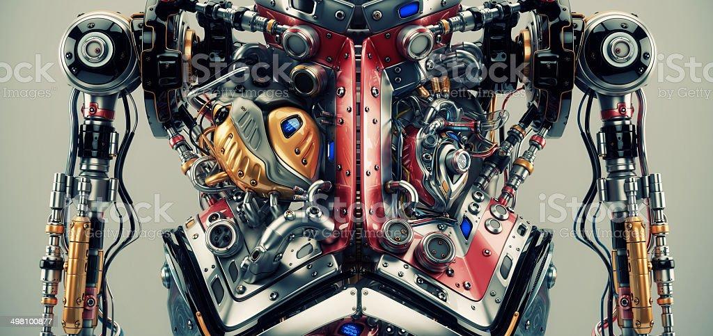 Robotic humanoid torso stock photo