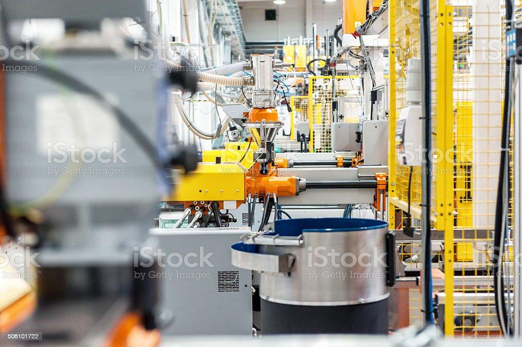 Robotic machines stock photo