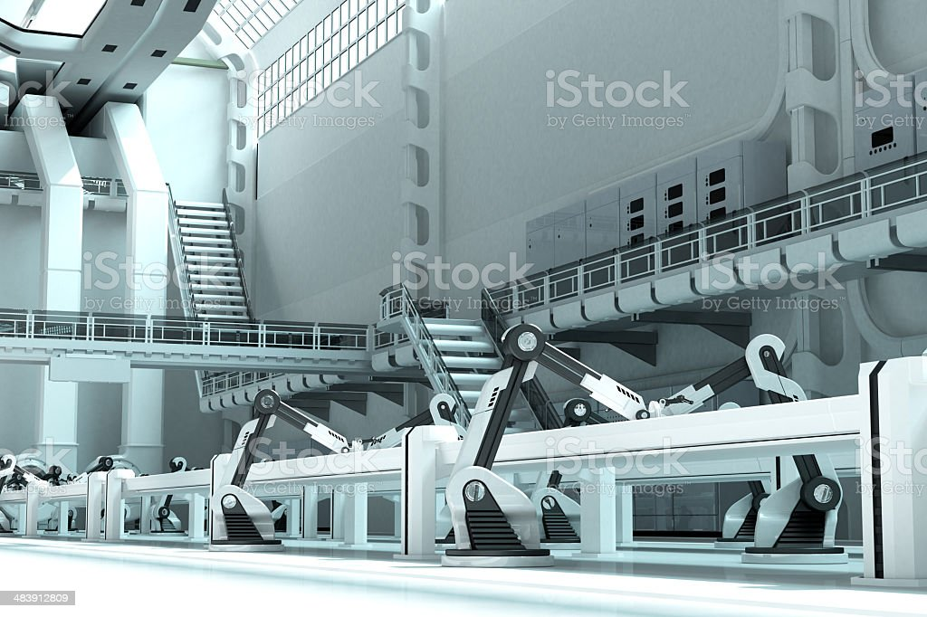 Robotic Production Line stock photo