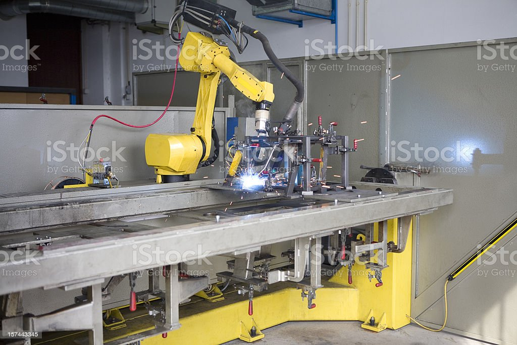 Robotic Welding Machine royalty-free stock photo