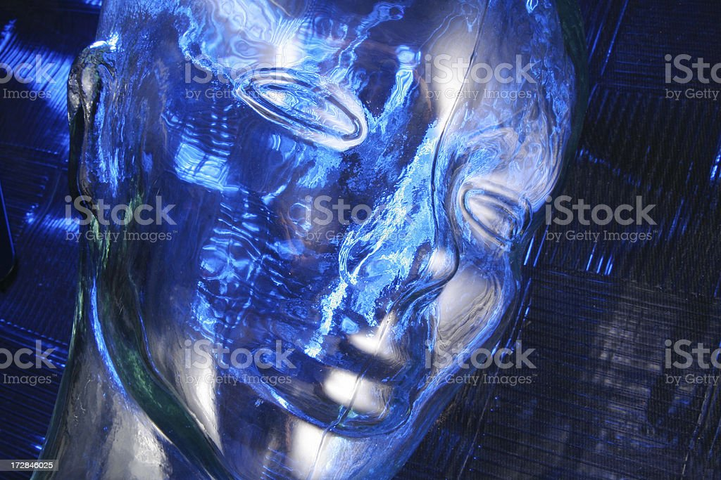 Robots and artificial intelligence royalty-free stock photo