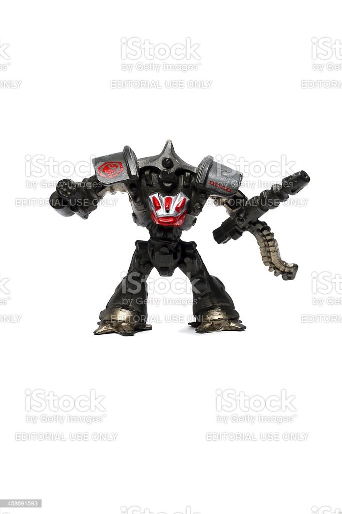 Robots and Guns Should Never Mix. stock photo