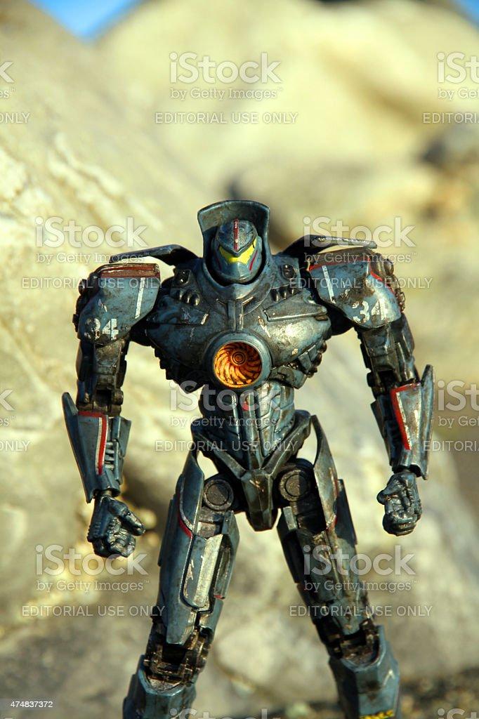 Robots and Rocks stock photo