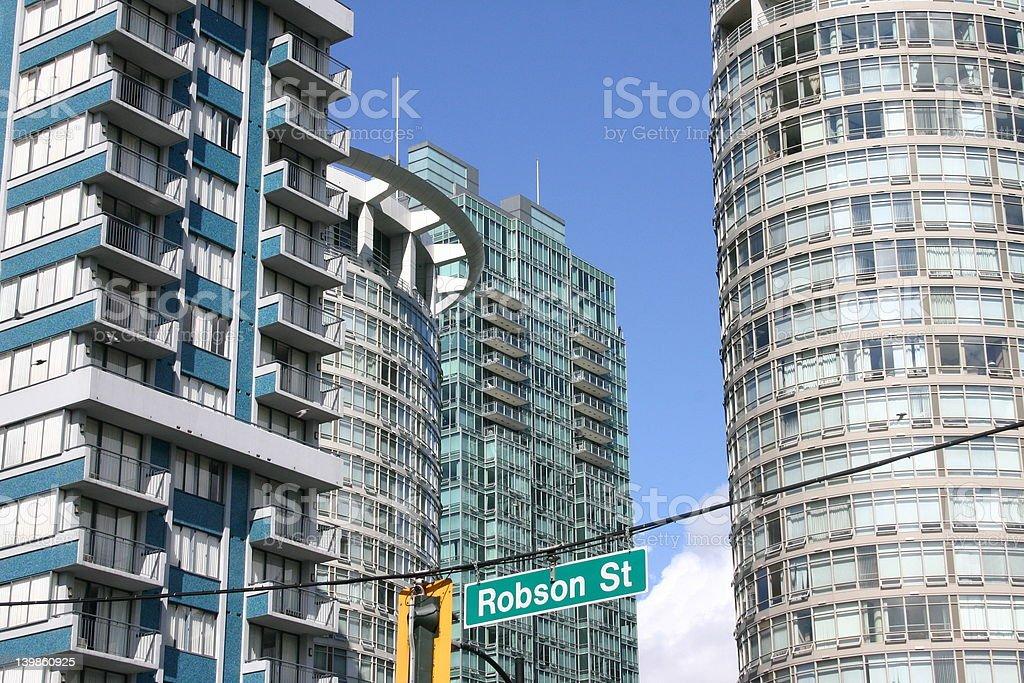 Robson Street, stock photo