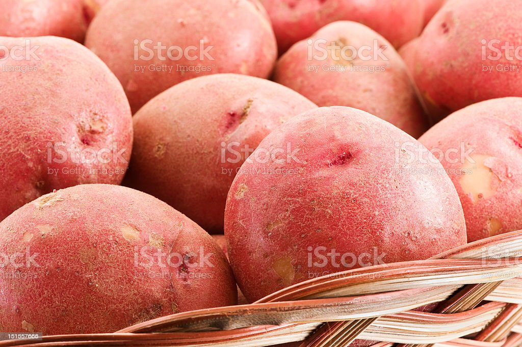 Robust Red Potatoes royalty-free stock photo