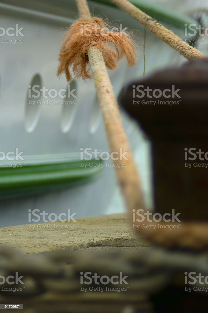 Robust trail-rope royalty-free stock photo