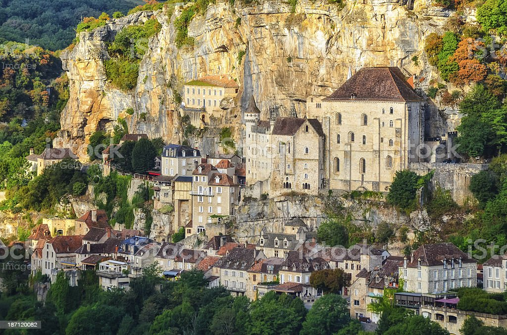 Rocamadour old medieval village detail view, France stock photo