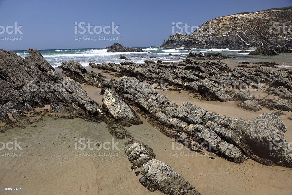 Rocas en la costa de Portugal foto de stock libre de derechos