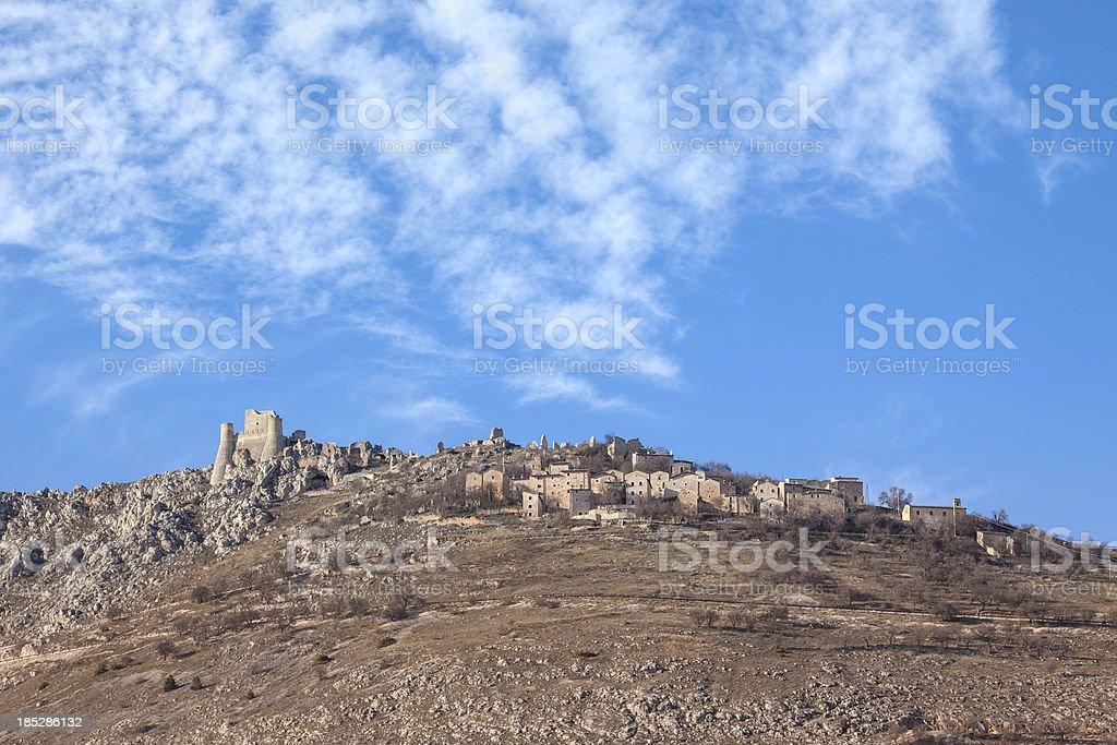 Rocca Calascio -  L'Aquila Province, Abruzzi Italy stock photo