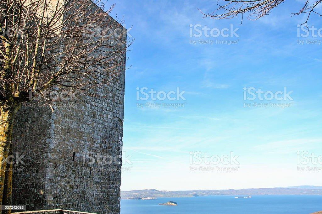 Rocca dei papi , Montefiascone stock photo