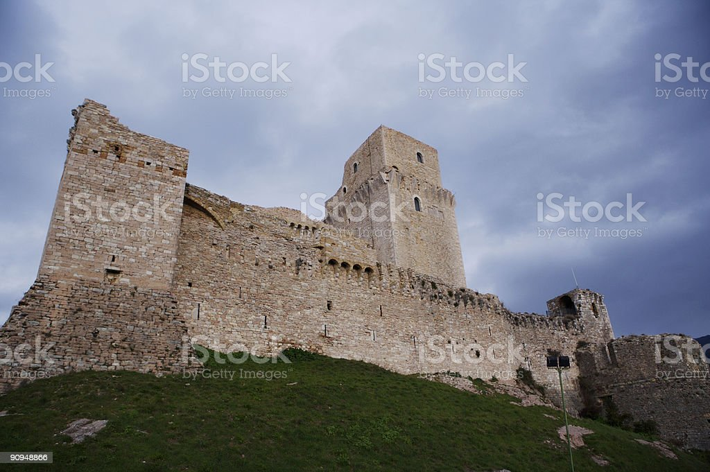 Rocca Maggiore fortress.  Assisi, Italy. royalty-free stock photo