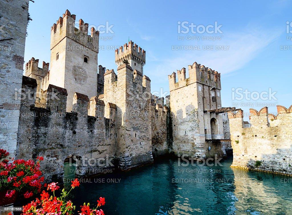 Rocca Scaligieri, Sirmione stock photo