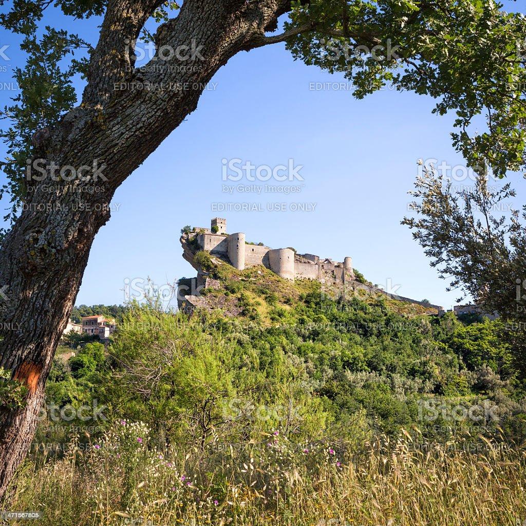 Roccascalegna castle in the Province of Chieti, Abruzzi Italy royalty-free stock photo