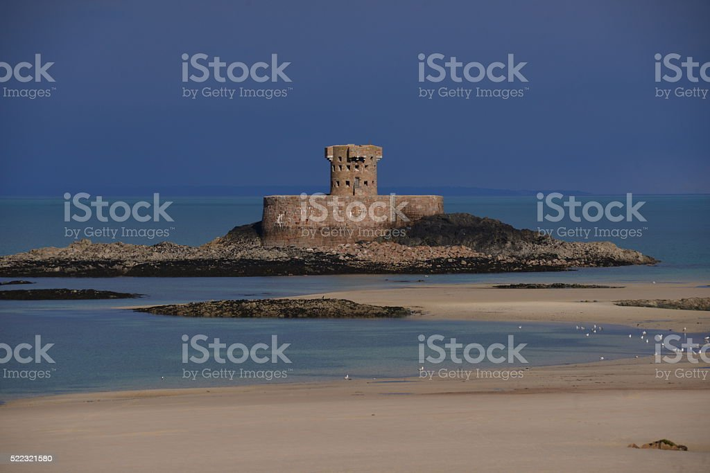 Rocco Tower, St Ouen, Jersey, U.K. stock photo