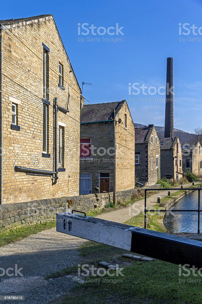 Rochdale Canal, Hebden Bridge stock photo