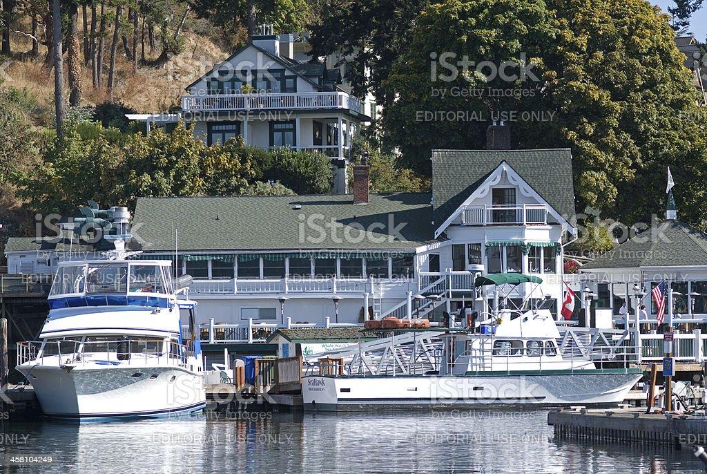 Roche Harbor on San Juan Island stock photo