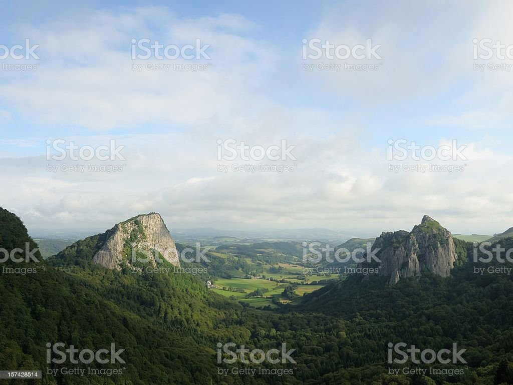 roche Tuiliere and Sanadoire stock photo
