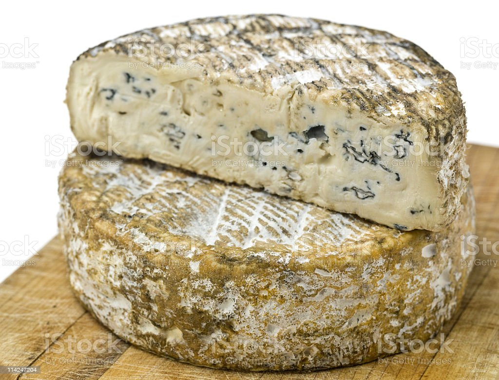 Rochebaron style - soft cow's milk blue cheese royalty-free stock photo