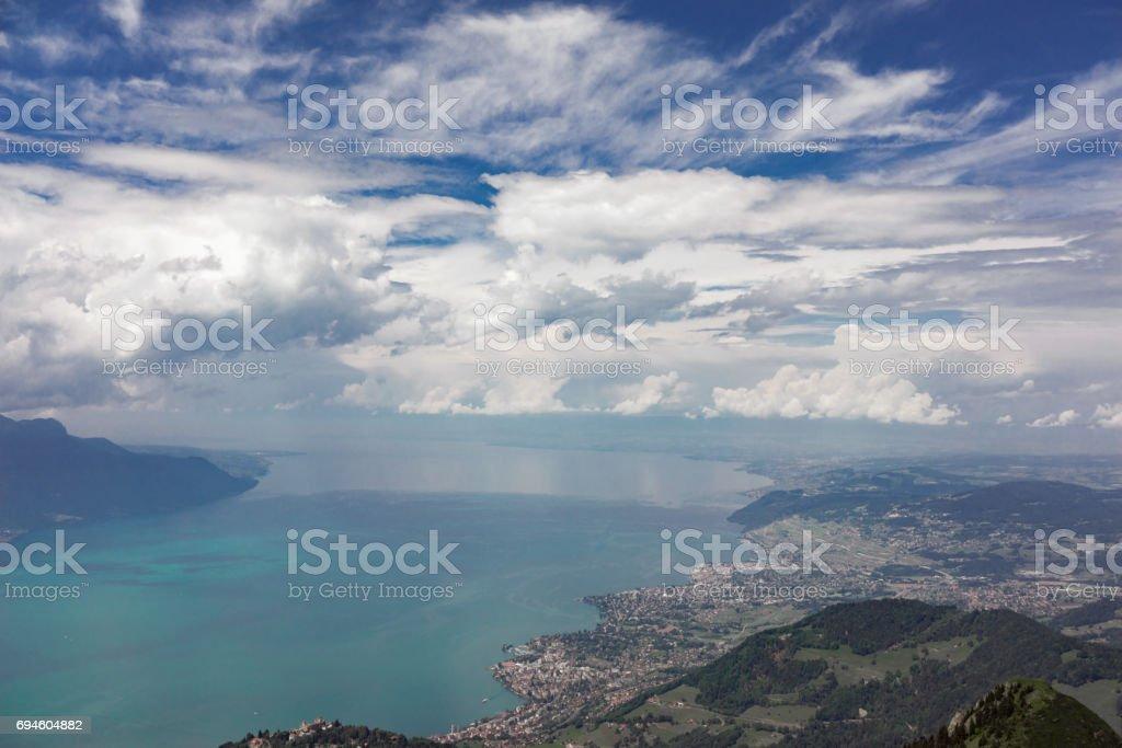 Rocher de Naye in Switzerland stock photo