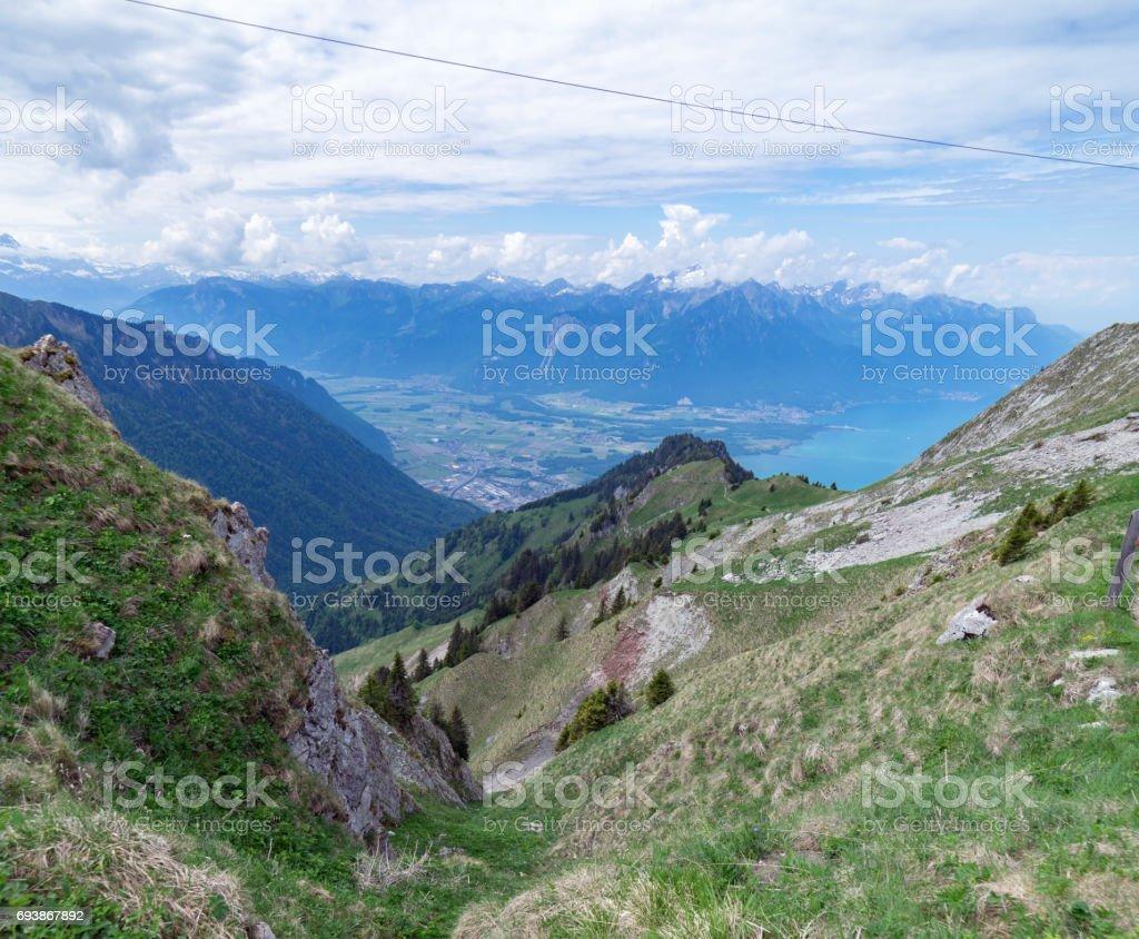 Rocher de Naye, Switzerland stock photo