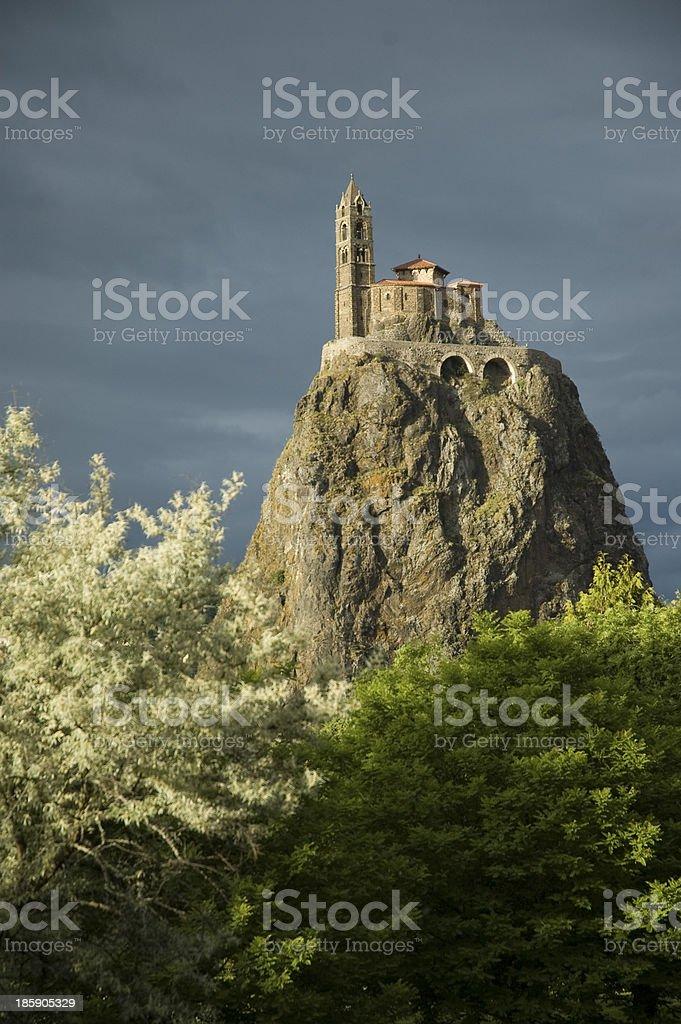 Rocher et chapelle Saint Michel stock photo