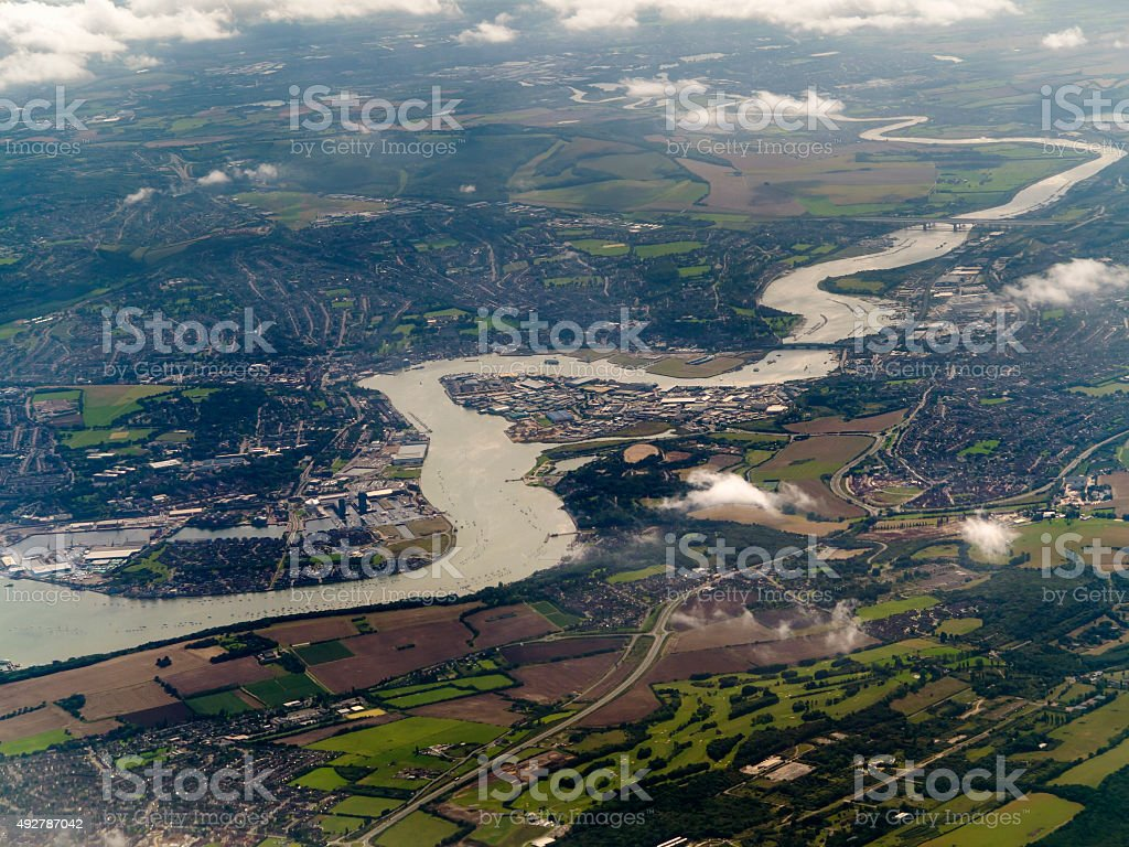 Rochester and river Medway, Kent, UK stock photo