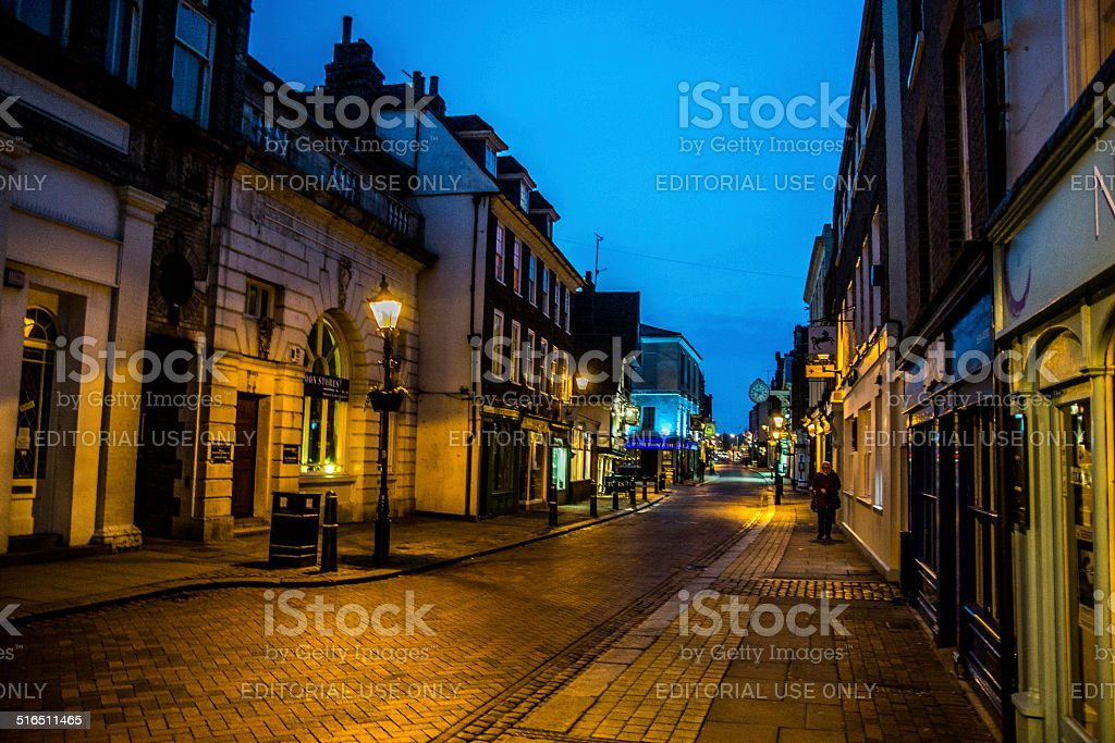 Rochester at night stock photo