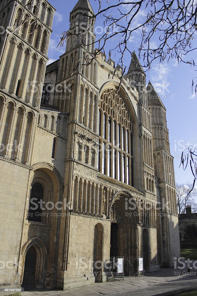 Rochester Cathedral in Kent royalty-free stock photo