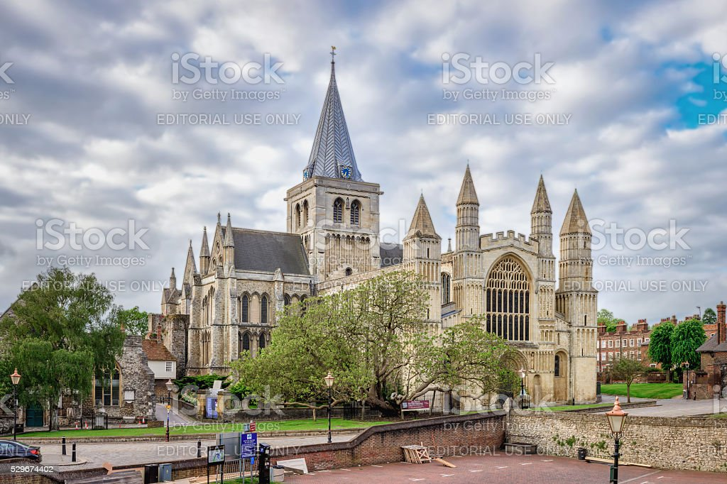 Rochester cathedral stock photo