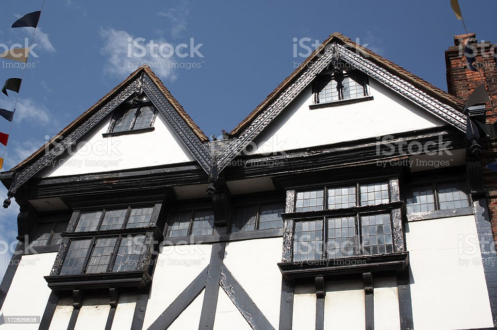 Rochester Elizabethan House detail stock photo