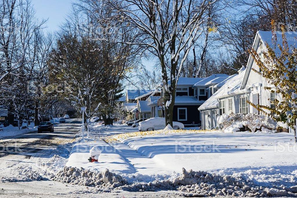 Rochester Michigan Winter stock photo