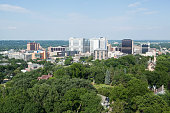 Rochester Minnesota Downtown, Aerial View from Water Tower