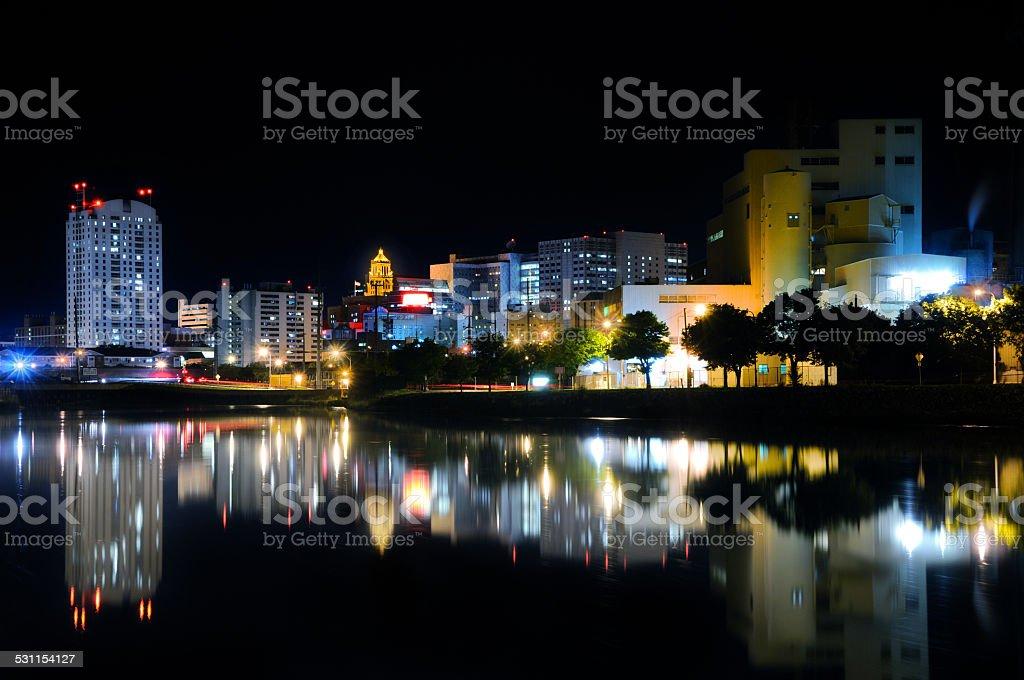 Rochester MInnesota Skyline At Dusk stock photo