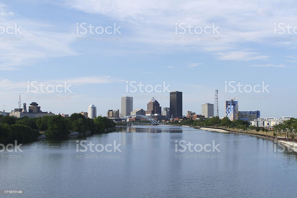 Rochester New York Cityscape Skyline stock photo