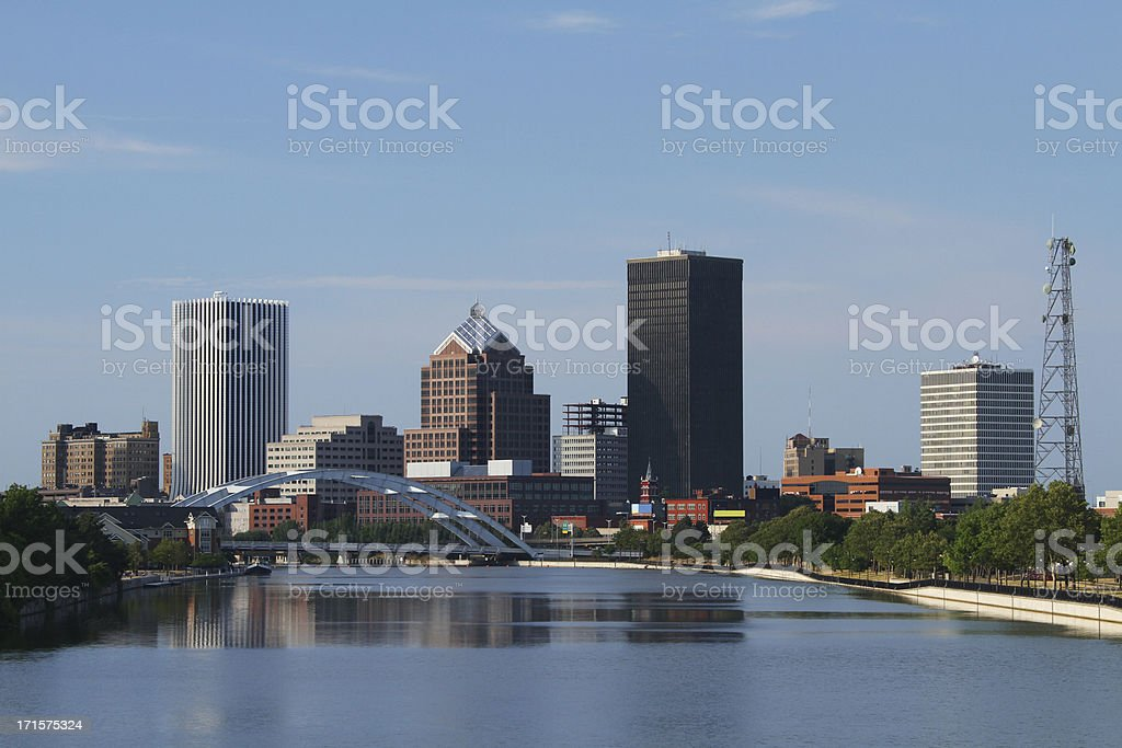 Rochester New York Cityscape Skyline royalty-free stock photo