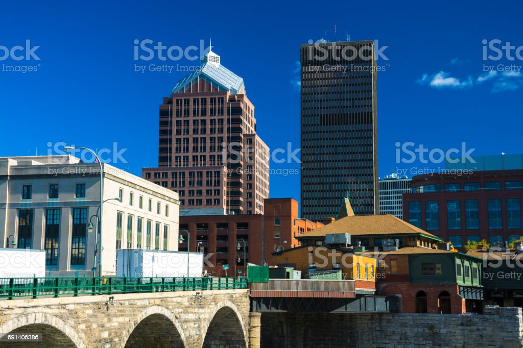 Rochester Skyscrapers Close-up View stock photo