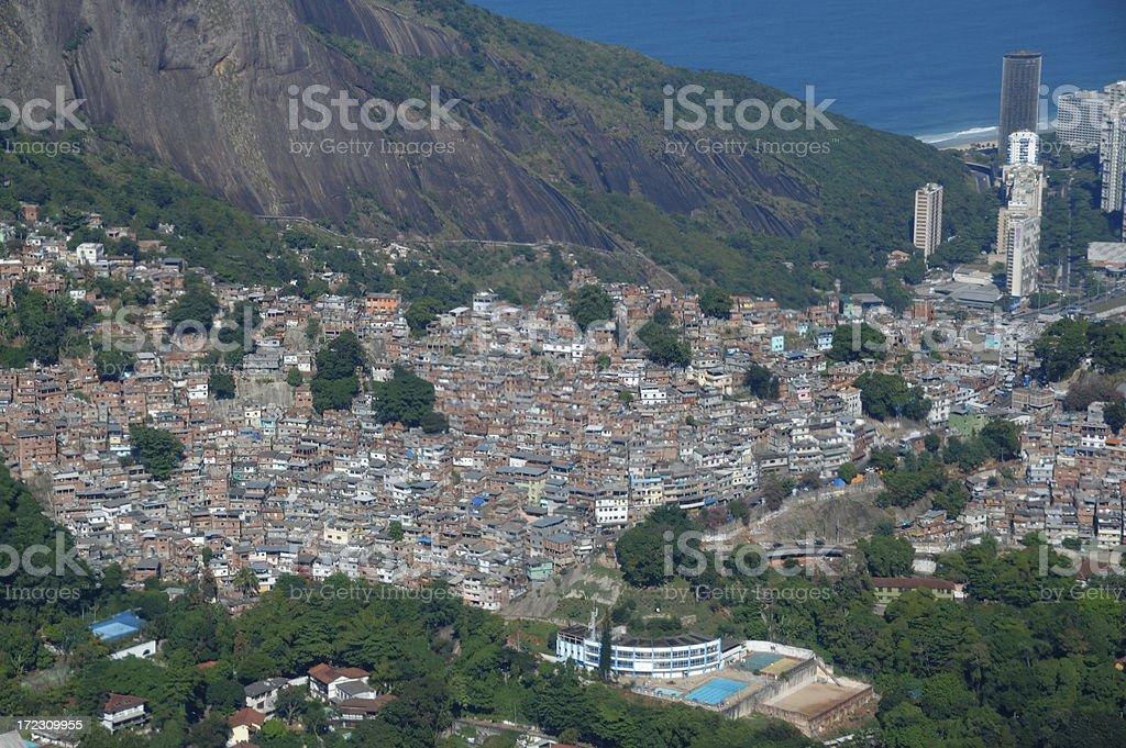 Rocinha Favela in Rio de Janeiro royalty-free stock photo