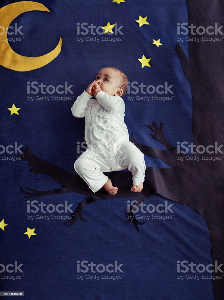 Rock a bye baby on the treetop stock photo