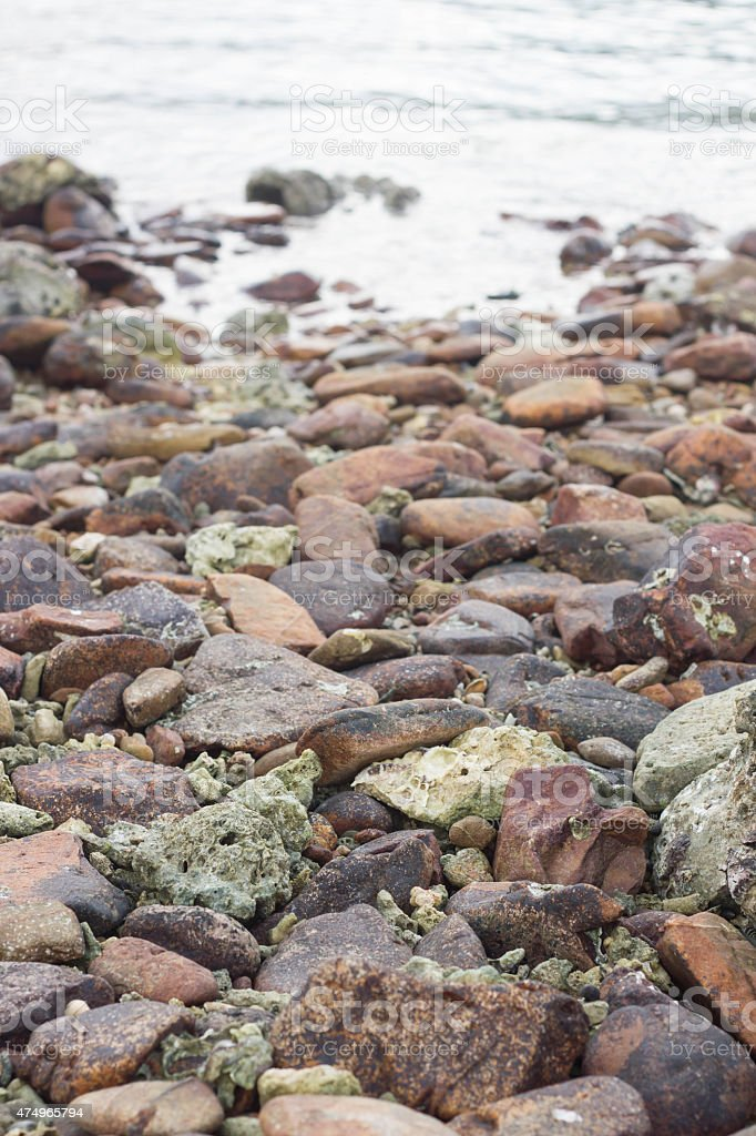 Rock and river , natural background stock photo