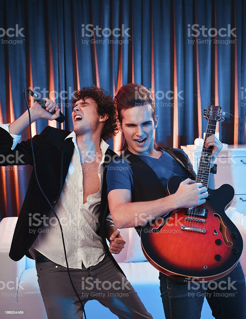 Rock and Roll at Home Party royalty-free stock photo
