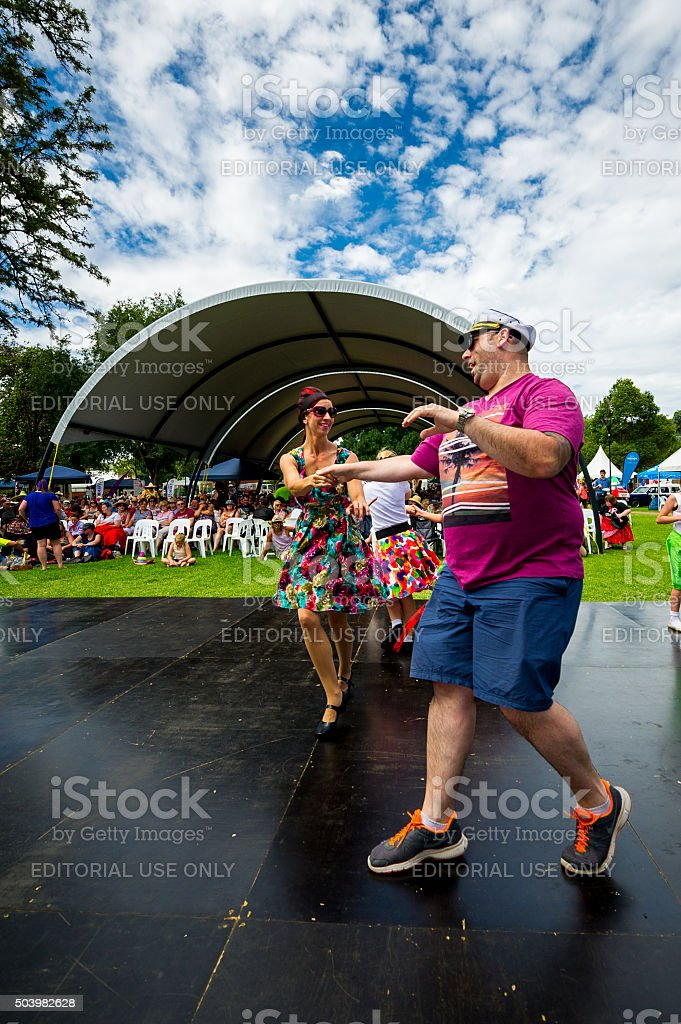 Rock and Roll at Parkes Elvis Festival 2016 Street Parade stock photo