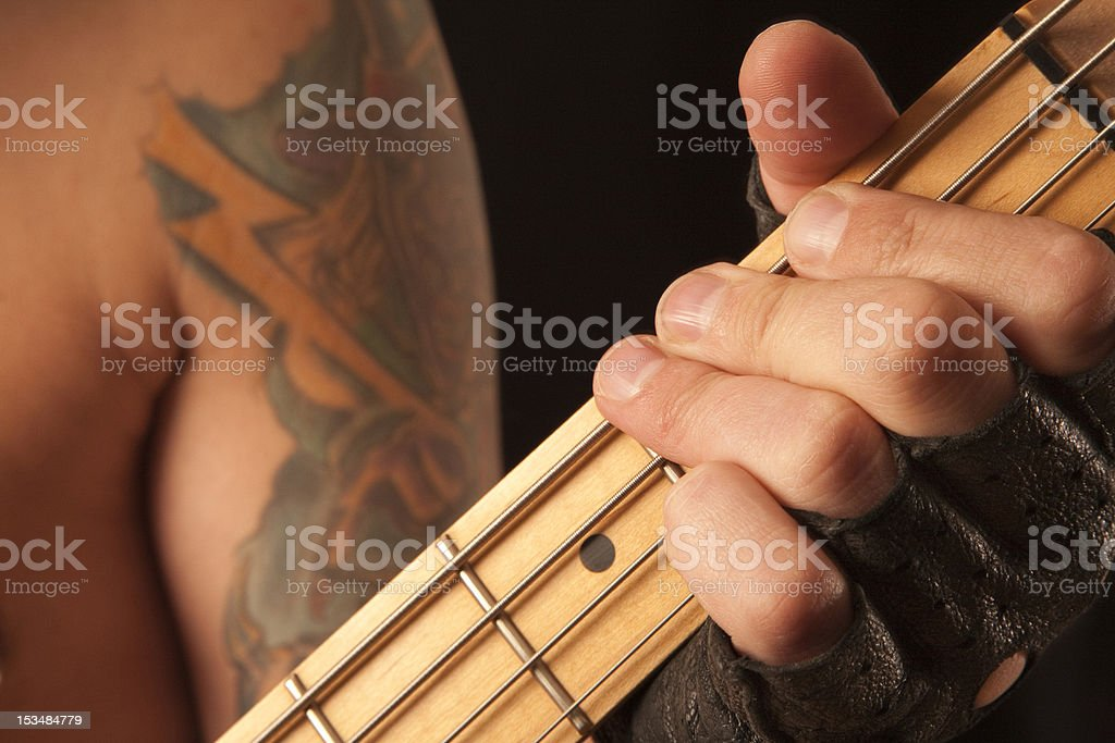 Rock and Roll Guitarist stock photo
