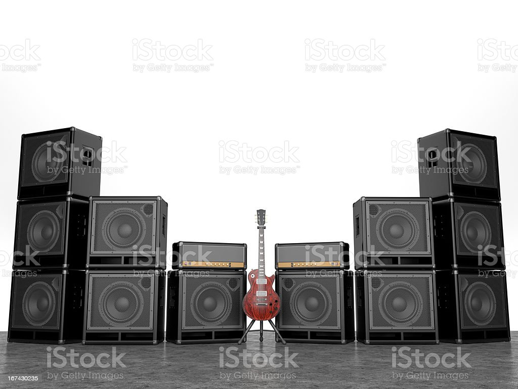 rock and roll is alive! royalty-free stock photo