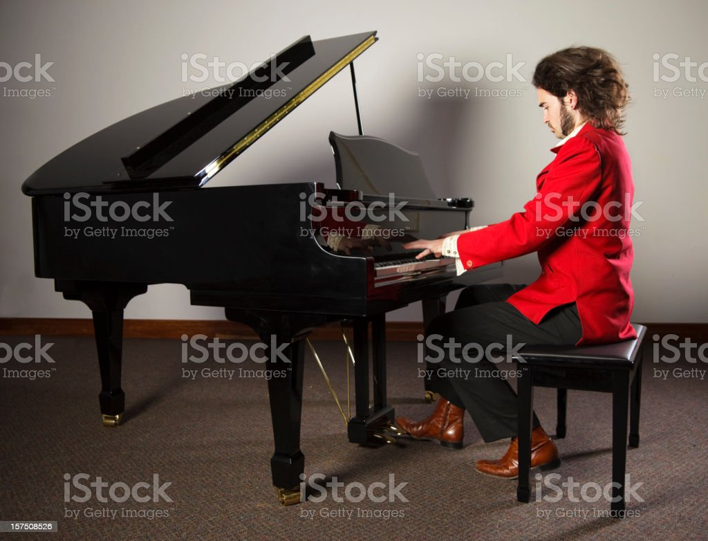 Rock and Roll Piano Player stock photo