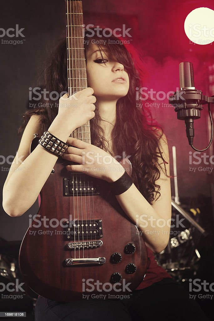 Rock and Rolla girl stock photo