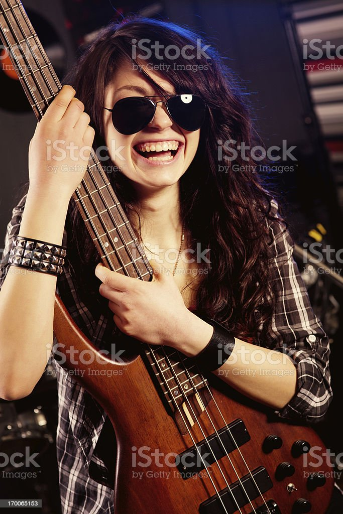 Rock and Rolla girl royalty-free stock photo