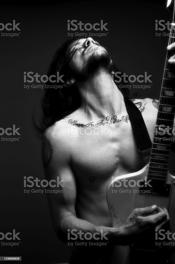 Rock and Roller stock photo