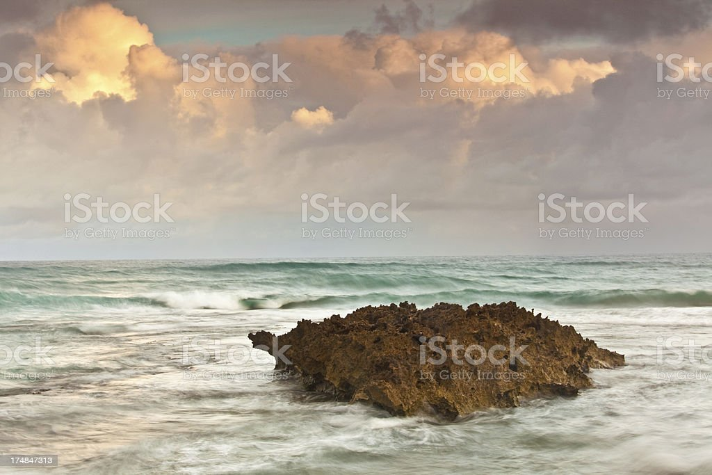 Rock and Sea royalty-free stock photo